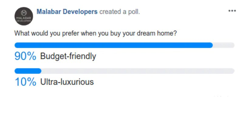 Facebook Poll - Apartments