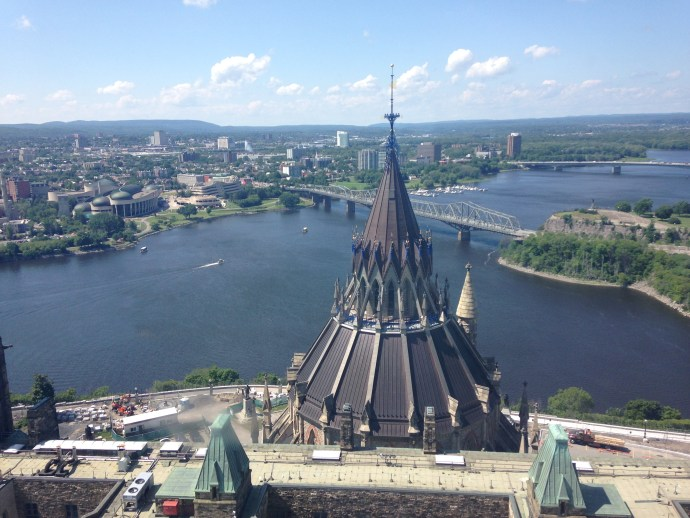 This is part of the view from the Peace Tower....that dome is the dome of the library