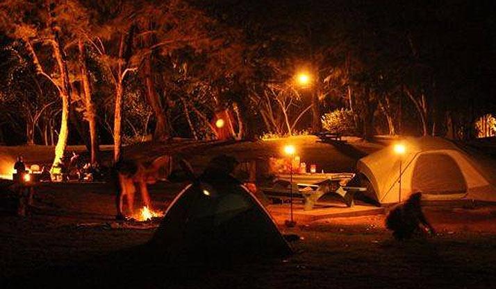 Malaekahana Beach Campground  North Shore Oahu Camping