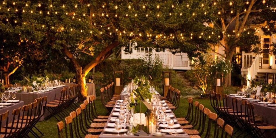 La iluminacin perfecta para tu boda retro y romntica