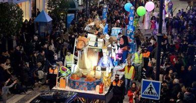 Los Reyes Magos repartirán 15.000 kilos de caramelos en Málaga