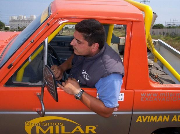 Luis Ortigosa a los mandos de su Nissan Patrol.