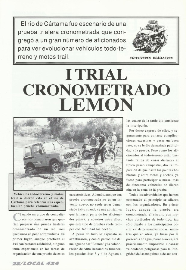 Reportaje Revista Local 4x4 I Trial Cronometrado Lemon