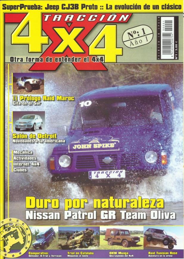 Portada número 1 de la Revista Tracción 4x4.