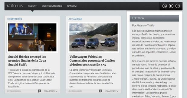 Cuerpo de noticias de Málaga Motor en 2012