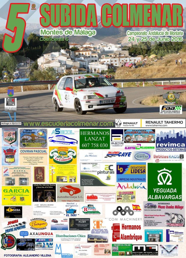 Cartel V Rally Subida Colmenar