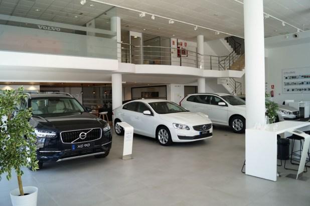 Exposición de vehículos nuevos en Volvo Vypsa Málaga