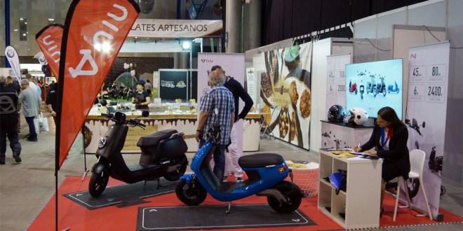 Gama de Scooter Eléctrico NIU en el Salón de la Moto de Málaga 2018.