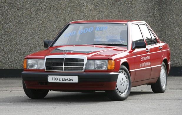 Aspecto exterior del Mercedes-Benz con motorización eléctrica desarrollado en 1991.