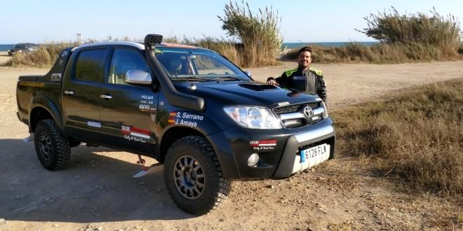 Salvador Rubén Serrano piloto del Team Salru.Competición.