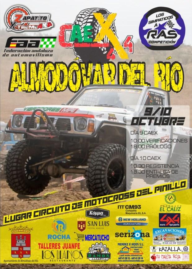 Cartel oficial Campeonato Extremo de Andalucía CAEX 4x4 Almodóvar del Río 2021.