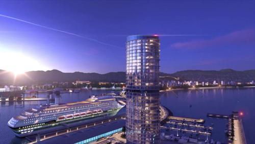 Hotel at Malaga port