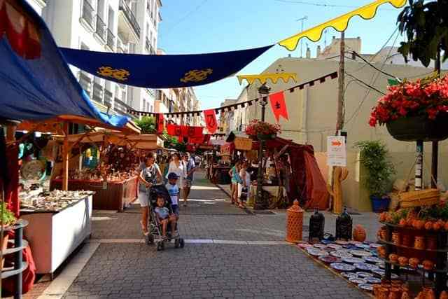 Medieval craft and esoteric market in Estepona in June