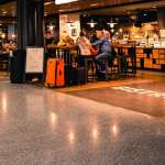 Airport shops and restaurants