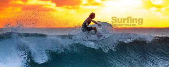 surfing in Malaga
