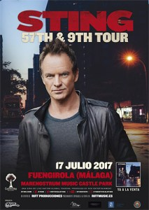 Sting concert in 2017 in Fuengirola
