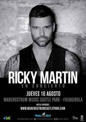 Ricky Martin concert in Fuengirola