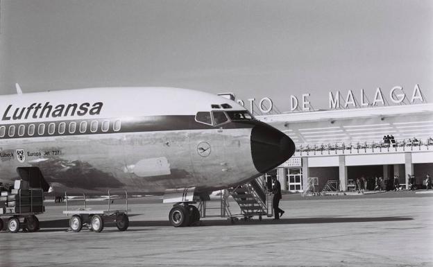 Lufthansa at Malaga airport