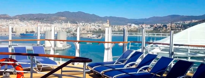 Overview of Malaga from Sypmphony of the Seas cruise