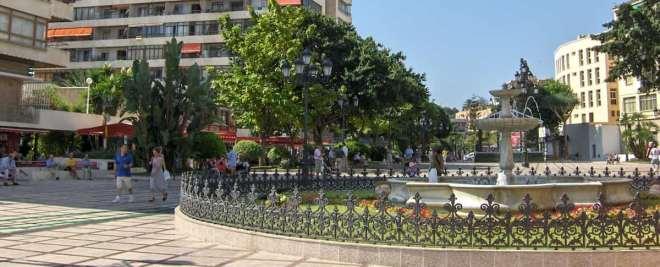 La Nogalera square in Torremolinos