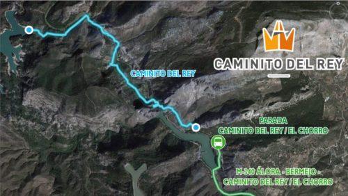 Mapa Caminito de Rey