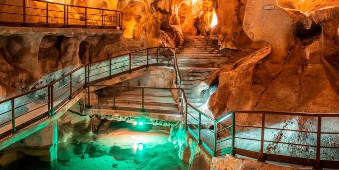 Fotografía del interior de la cueva