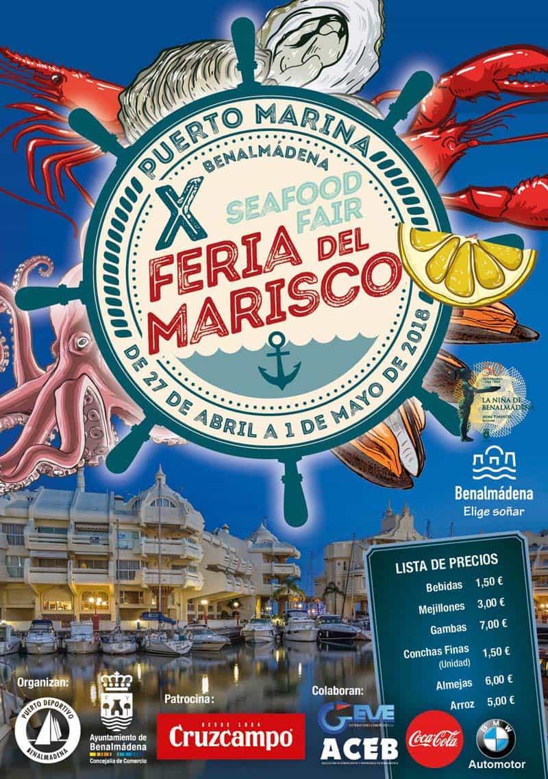 X Feria de Marisco en Puerto Marina Benalmádena del 27 de abril al 1 de mayo