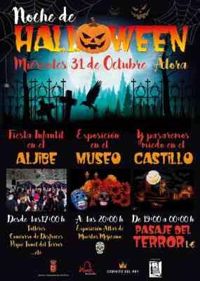 Programa de Halloween en Álora 2018