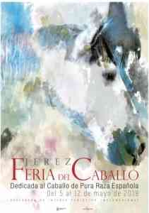 Cartel de la Feria del Caballo en Jerez