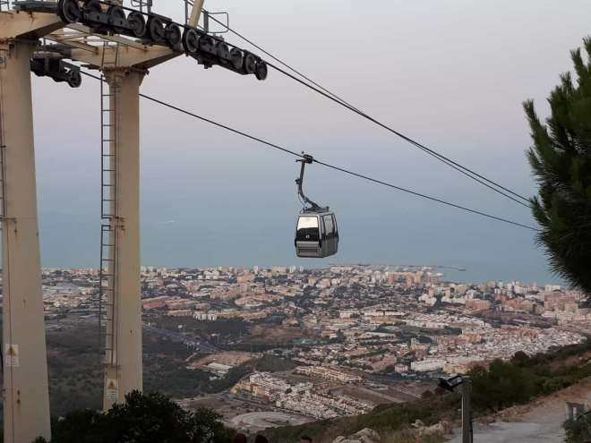 Benalmadena cable car viewpoint