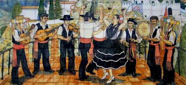 Verdiales dancing mosaic in Andalucia