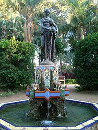Fuente de la Ninfa del Cántaro en el Parque de Málaga