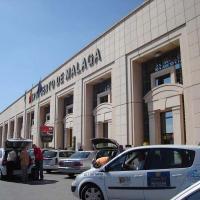 Entrada al aeropuerto de Málaga