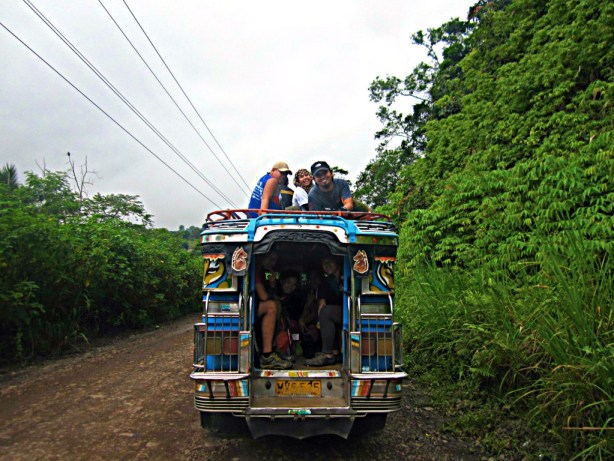 jeepney ride in mount apo.