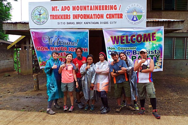 Group picture at Kapatagan Climb Registation Office picture