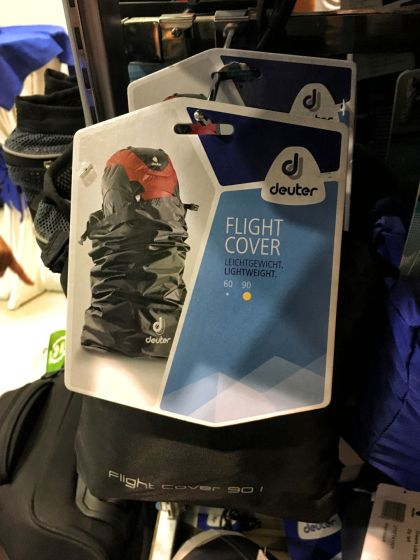 The flight cover is the secret on how to keep your pack away from damage and tear when traveling. Available in both 60L and 90L.
