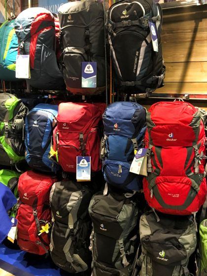 They carry an assortment of bags for daily urban use to day-hikes and multi-day expedition climbs.