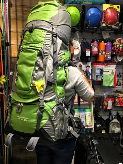 The powerhouse 65+10SL multiday pack is perfect for expedition climbs. Apart from their lighten up and air system, the Deuter SL series is exclusively designed for the womens following the contours of their back which is which is different from the men. It comes with a catchy flower too.