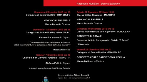 10^ edizione di Natale in Collegiata a Mondolfo e Marotta