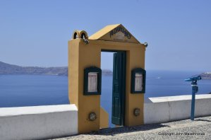 Gate to nowhere Fira Santorini