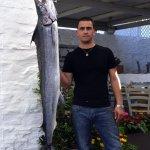 Speargunner with swordfish Kea