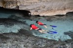 Snorkelling in the Pratinha underwater cave Lencois Brazil