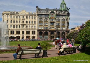 Nevsky Prospekt, Kazan cathedral square, St Petersburg