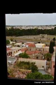 View from the Clock, Rhodes Town
