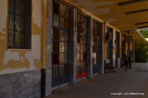 Corinth station left to rot