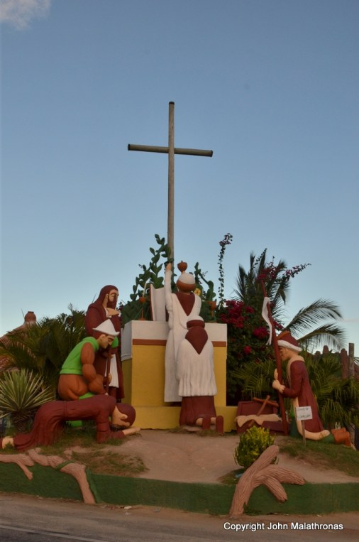 Pataxó carving depicting the first mass in Brazil  Brazil, Porto Seguro