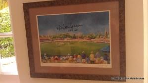 Limited signed print England v Australia 2002