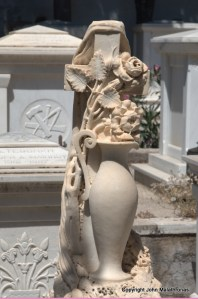 Vase in the town cemetery