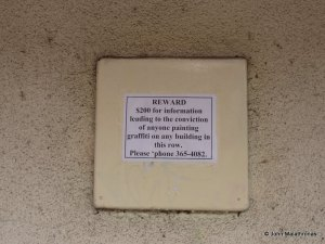 Graffitti warning, Christchurch