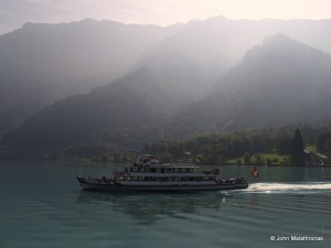 A pleasure boat on lake Brienz